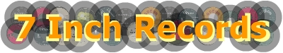 7 Inch Records - Content of the website: Beatles books and rare records for sale, illustrated 45rpm discography's of rare 50's, 60's and 70's groups.
