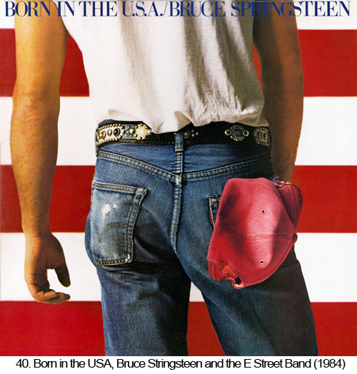 Great Album Covers - Record Album Cover Born in the USA by Bruce Springsteen