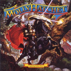 Lightning Strikes - Molly Hatchet's Seventh Album - 1989 - Album Cover Art by Ezra Tucker