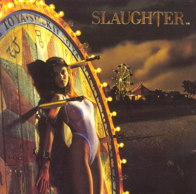 great album covers slaughter stick it to ya album cover  Glen Wexler